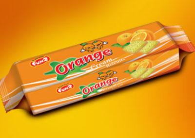 Fun2 Orange Cream Biscuits
