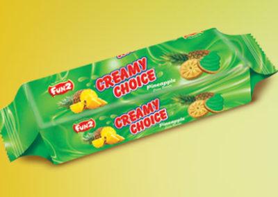 Pineapple  Cream Minees Sandwich cookies