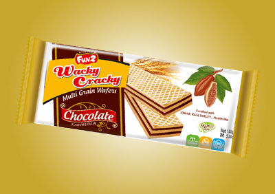 Wacky Cracky 150g Chocolate Wafer Biscuits