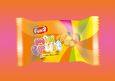 Small Mix Fruits Cream Biscuits