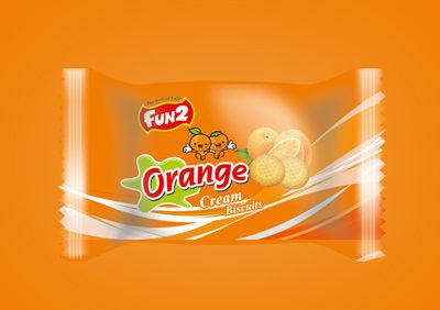 Small Orange Cream Biscuits