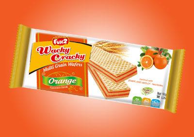 Wacky Cracky 150g Orange Wafer Biscuits