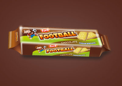 Chocolate Football Cream Biscuits