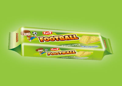 Pineapple Football Cream Biscuits