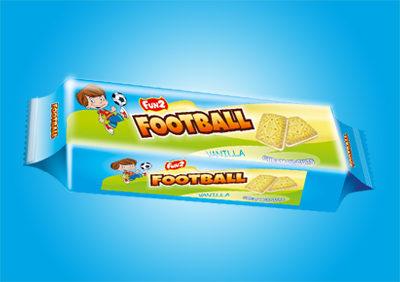 Vanilla Football Cream Biscuits